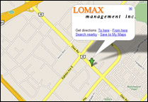 Click for larger Map and detailed directions to LOMAX Managment Inc.